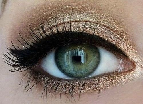 Green Eyes Cat Eye Makeup
