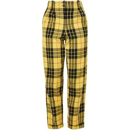 Topshop check pants