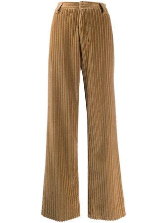 AMI Paris wide leg corduroy trousers - FARFETCH