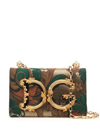Dolce & Gabbana logo-plaque shoulder bag