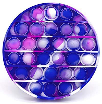 Amazon.com: Tie Dye Bubble Popping Sensory Fidget Toy - Bubble Pop Stress Relief Toys for Boys and Girls - Toddlers & Kids – Autism Special Needs Stress Reliever Calming Push Popper Game - Purple & Blue Circle: Toys & Games