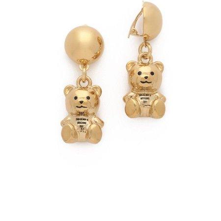 Moschino Teddy Bear Earrings