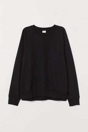 Sweatshirt - Black - Ladies | H&M US