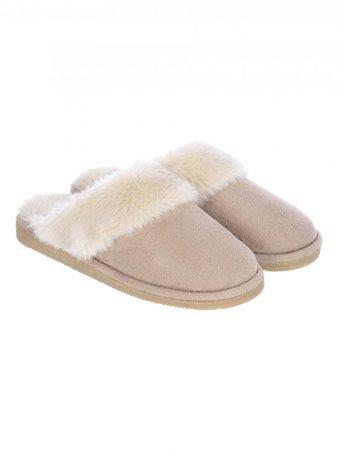Womens Tan Mule Slippers | Peacocks