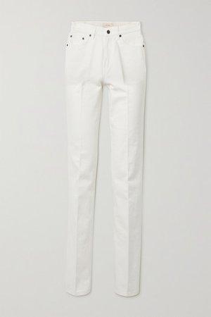 Carlton High-rise Straight-leg Jeans - White