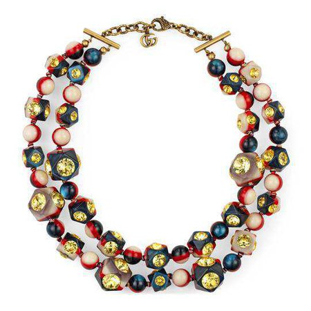 Vintage Web necklace with crystals - Gucci For Women 539188I42598517