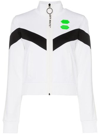 Off-White high neck logo track jacket $535 - Buy Online - Mobile Friendly, Fast Delivery, Price