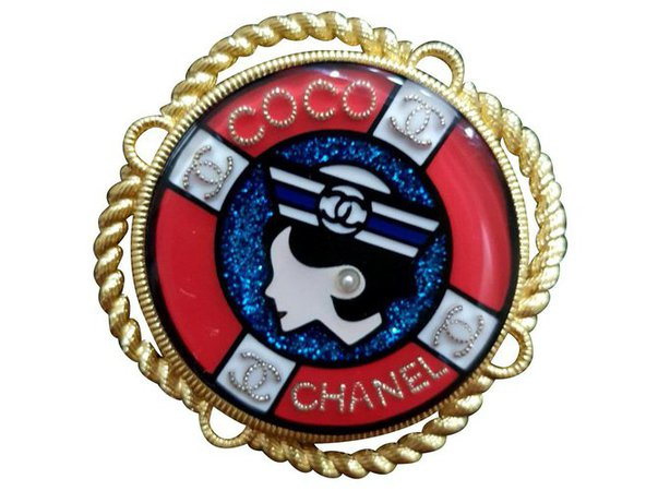 Chanel Coco Chanel nautical brooch pin Pins & brooches Other Multiple colors ref.146817 - Joli Closet