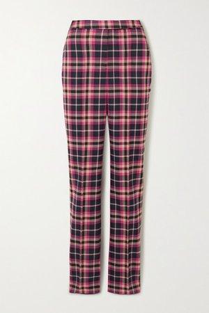 Rebecca Vallance | Ryder checked twill straight-leg pants | NET-A-PORTER.COM