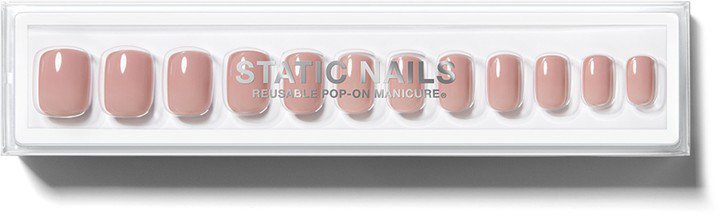 Static Nails Square Pop-On Reusable Manicure Set