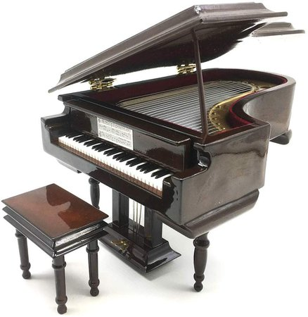 Amazon.com: Piano Music Box with Bench and Black Case Musical Boxes Gift for Christmas/Birthday/Valentine's Day, Melody Castle in The Sky: Gateway