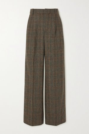 Brown Bottomsup checked woven straight-leg pants | Holzweiler | NET-A-PORTER