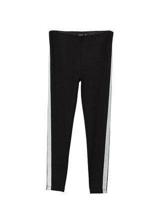 MANGO Panel contrast leggings