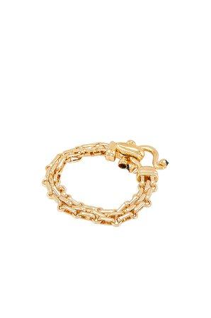 Ponponiere Mason Bracelet in Gold & Black | REVOLVE