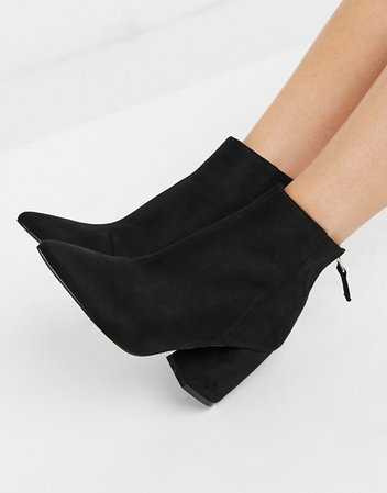 RAID Wynter heeled ankle boots in black | ASOS