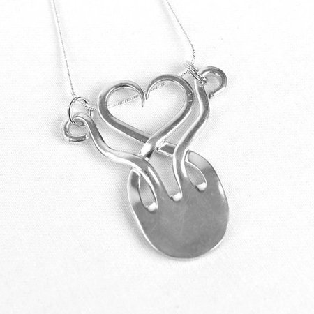 Silverware Necklace Spoon Jewelry for Women Twisted Fork   Etsy