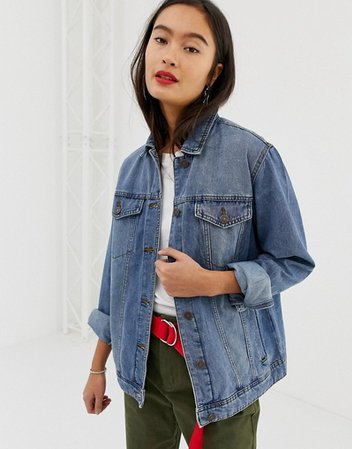 Noisy May oversized denim jacket | ASOS blue