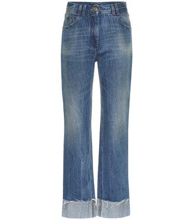 Jeans Rectos De Tiro Alto | Balmain - Mytheresa