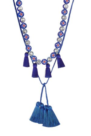 Sautoir Mini Tassel Necklace with Crystals Gr. One Size