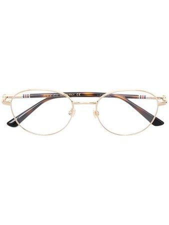 Gucci Eyewear oval frame glasses