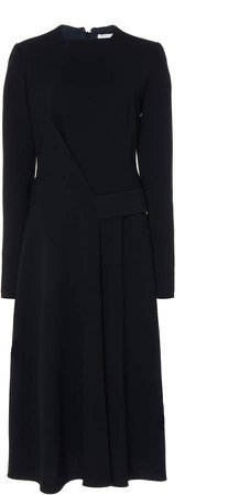 Long Sleeved Belted Midi Dress