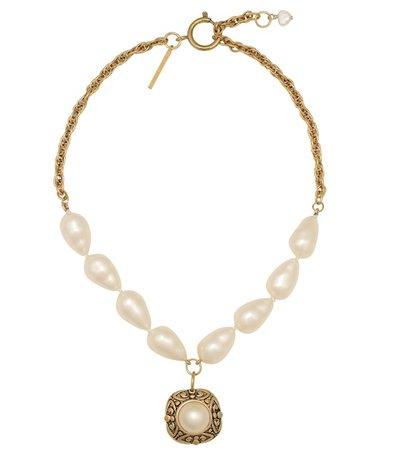Baroque Pearl Necklace - Marine Serre | Mytheresa