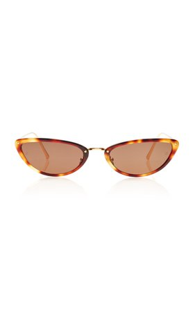 Linda Farrow Acetate and Titanium Cat-Eye Sunglasses