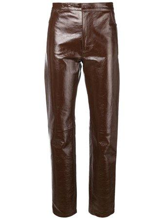 Ami Paris Patent Leather Pants - Farfetch