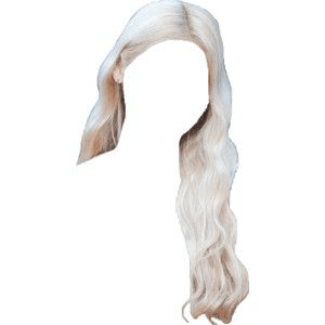 white platinum blonde hair png
