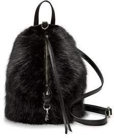 Faux Fur Convertible Mini Julian Backpack