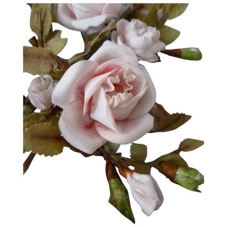 Delicious 19th C French porcelain floral rose & rosebud bouquets : : French faded-grandeur | Ruby Lane
