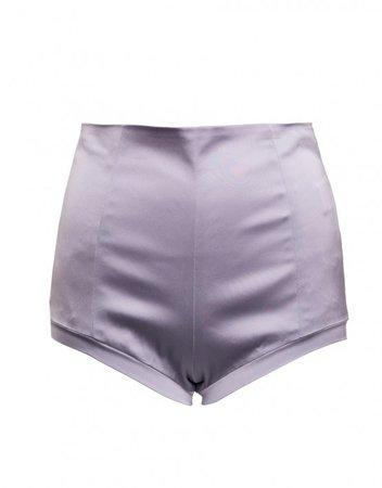 Satin Candy Shorts Lilac | MURMUR