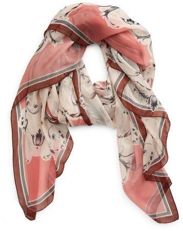Dimma Floral Print Silk Scarf