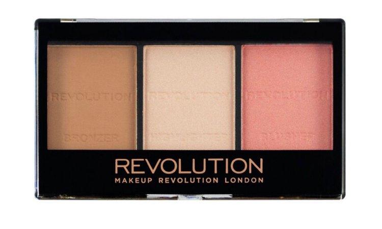 makeup revolution blush bronzer highlighter trio