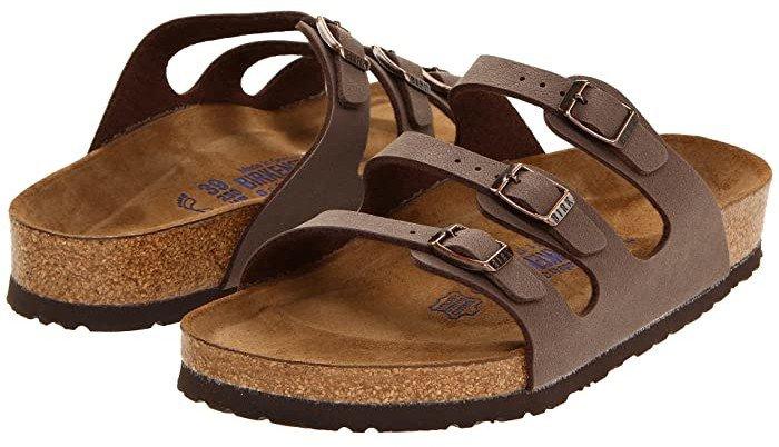 Florida Soft Footbed - Birkibuc (Mocha Birkibuc) Women's Sandals