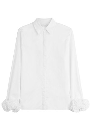 Cotton Shirt with Ruffles Gr. UK 4