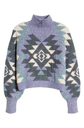 BP. Geometric Quarter Zip Sweater | Nordstrom