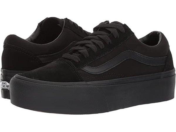 Vans Old Skool Platform Black | Zappos.com