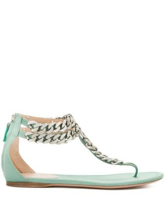 Giambattista Valli Chain-Detail Sandals GBVY270899 Green | Farfetch