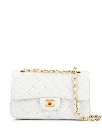 Chanel Pre-Owned 1990S Quilted Double Flap Cc Shoulder Bag Vintage | Farfetch.com