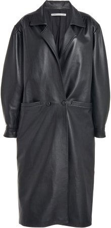 Alessandra Rich Oversized Leather Coat