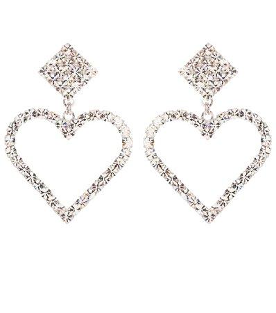 Crystal Heart Clip-On Earrings   Alessandra Rich - mytheresa