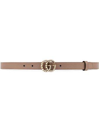 Gucci Pearl Double G Buckle Belt Ss20 | Farfetch.com