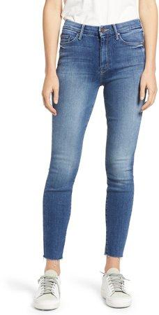 The Looker Fray Hem Ankle Skinny Jeans