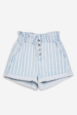 Paperbag Denim Shorts | Topshop
