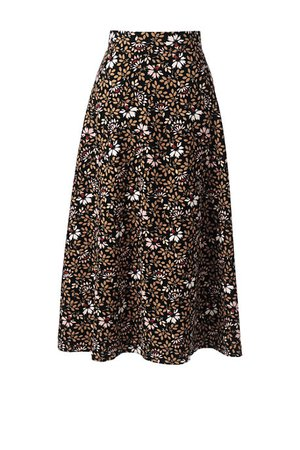 Women's Floral Knit Midi Skirt from Lands' End