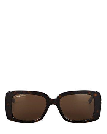 Balenciaga Square Logo Sunglasses | INTERMIX®