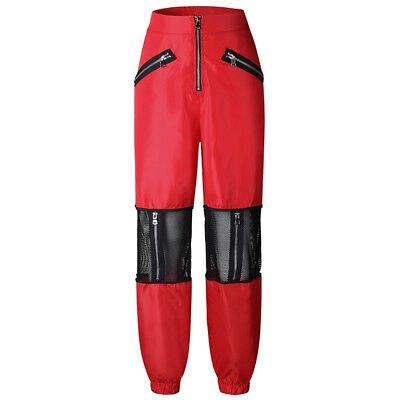 red hip hop jogger