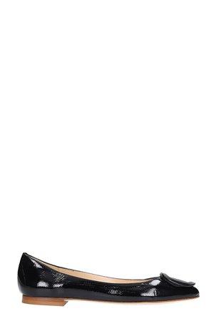 Fabio Rusconi Ballet Flats In Black Leather