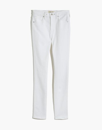High-Rise Skinny Jeans in Pure White